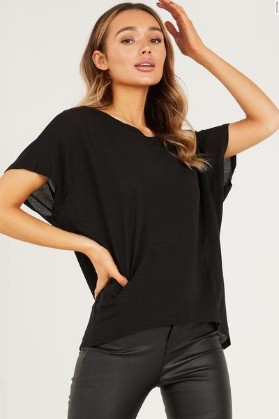 Black Bow T Shirt